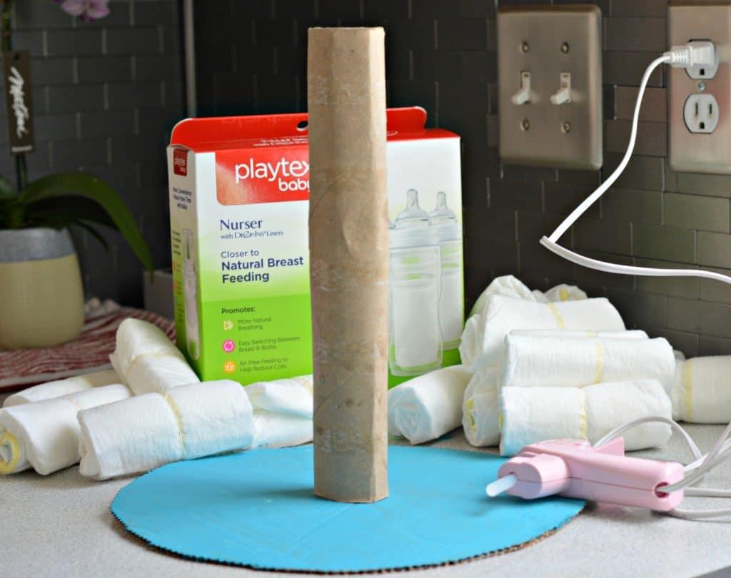 Diaper Cake Step 1
