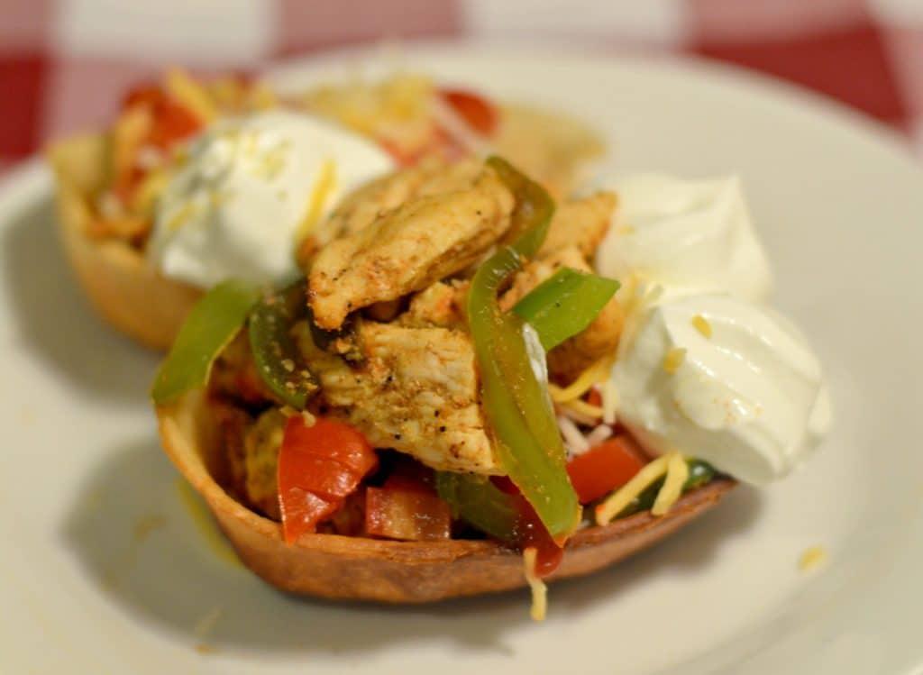 Chicken fajita bowls 1