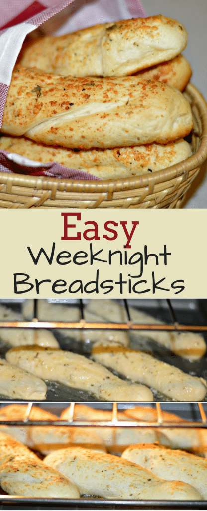 These breadsticks are a perfect side dish for your favorite Italian dish and they are so easy to make - perfect for a weeknight when you are busy!