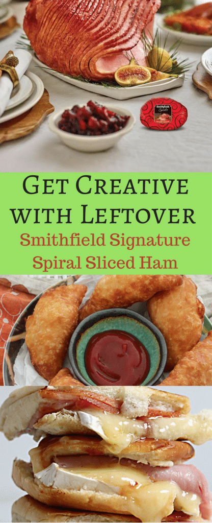 Check out this post for some great ideas for incorporating leftover Smithfield Signature Spiral Sliced Ham into some great recipes!