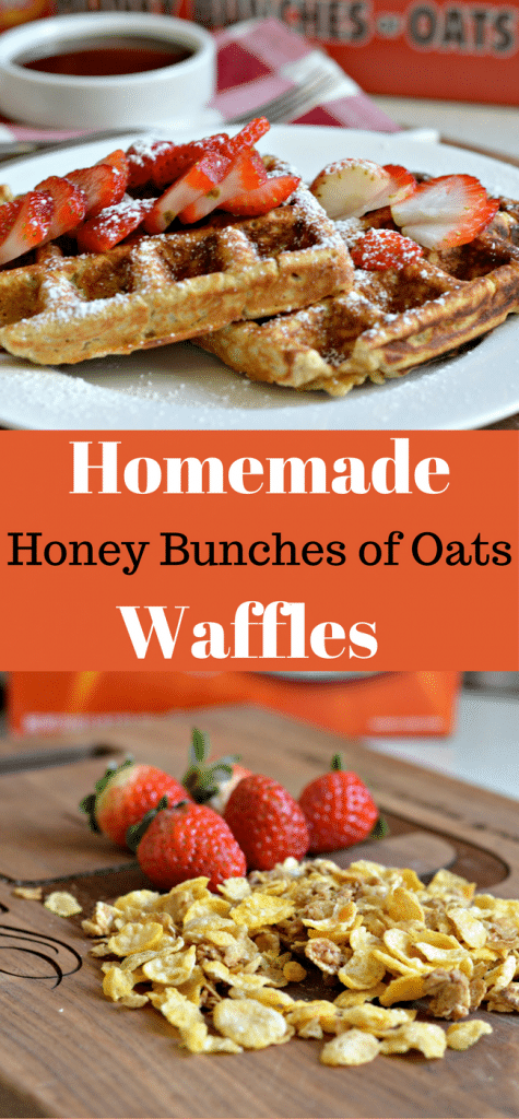 These Homemade Honey Bunches of Oats Waffles are a perfect option for a healthy, delicious breakfast. Check out the recipe here. #Spoonfulsofgoodness