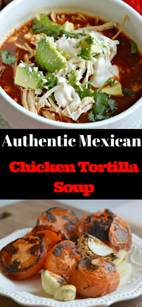 This Authentic Mexican Chicken Tortilla Soup is so easy to make and is delicious. Try it today!