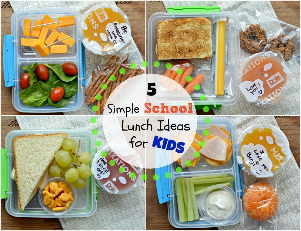 5 Simple School Lunch Ideas for Kids