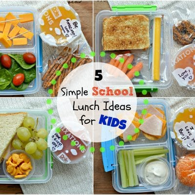 Five Simple School Lunch Ideas for Kids