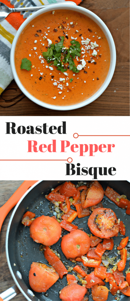 This Roasted Red Pepper Bisque is a perfect side dish that goes well with a variety of delicious main dishes. Check it out here.