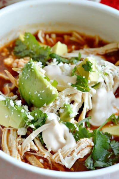 Authentic Mexican Chicken Tortilla Soup