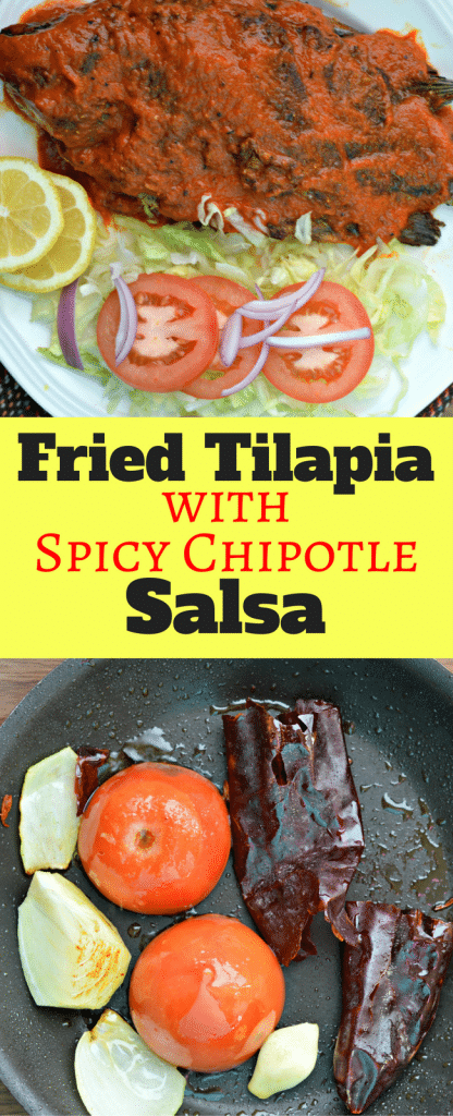 This Fried Tilapia with Spicy Chipotle Salsa is a perfect option for any time of year - especially if you love seafood like we do!